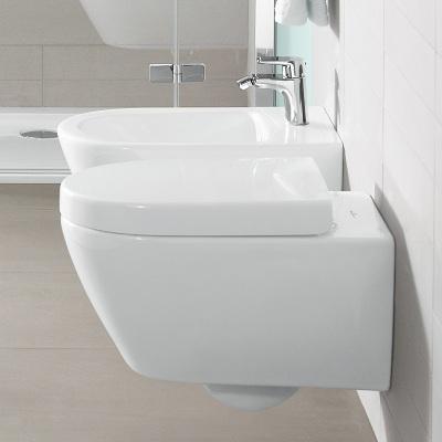 set vas wc suspendat cu capac soft close villeroy boch seria subway 2 0 56001001 9m68s101. Black Bedroom Furniture Sets. Home Design Ideas