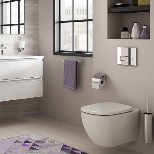 Vas wc suspendat cu fixare ascunsa aquablade ideal for Tesi design ideal standard