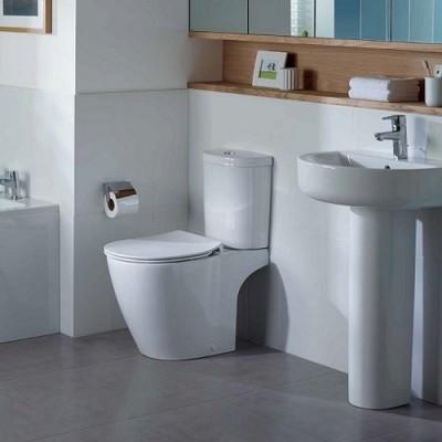 poza Set vas WC cu functie de bideu si rezervor alimentare inferioara ARC, IDEAL STANDARD seria CONNECT E781801+E785601
