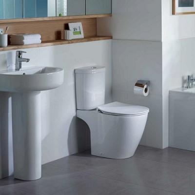 poza Set vas WC cu functie de bideu si rezervor alimentare laterala ARC, IDEAL STANDARD seria CONNECT E781801+E786101