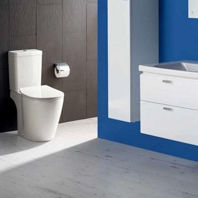 poza Set vas WC cu functie de bideu si rezervor alimentare laterala CUBE, IDEAL STANDARD seria CONNECT E781801+E797101