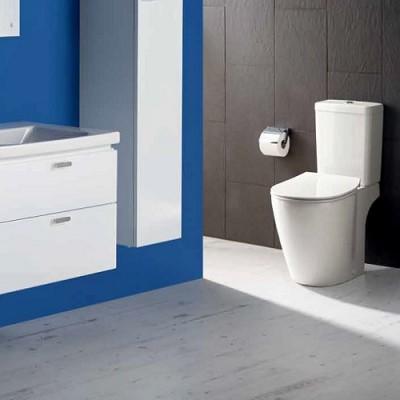 poza Set vas WC cu functie de bideu si rezervor alimentare inferioara CUBE, IDEAL STANDARD seria CONNECT E781801+E797001