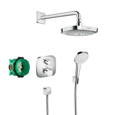 poza Set de dus incastra termostatat HANSGROHE DESIGN CROMA SELECT E / ECOSTAT E 27294000