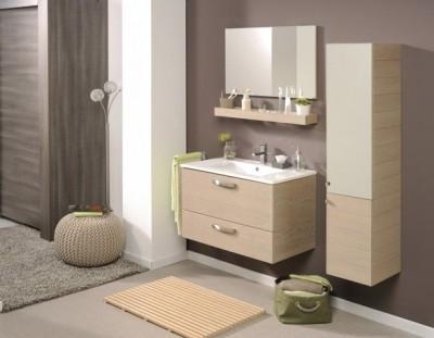 poza Set mobilier de baie cu lavoar si oglinda PARISOT seria PORTO 80 CERAMICA