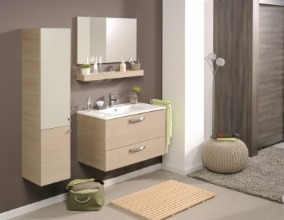 poza Set mobilier de baie cu lavoar si oglinda PARISOT seria PORTO 100 CERAMICA