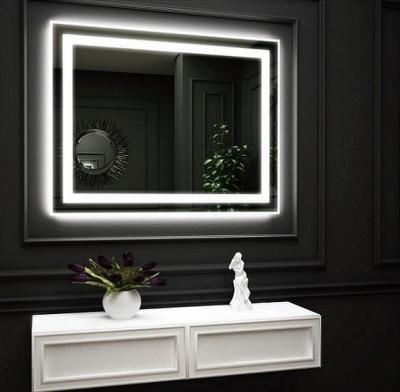 poza Oglinda cu iluminare LED interioara pe perimetru si iluminare LED pe perete O VIRRO seria AMELIA