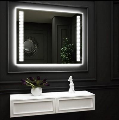 poza Oglinda cu iluminare LED interioara laterala si iluminare LED pe perete O'VIRRO seria FRIDA