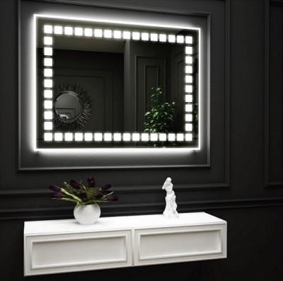 poza Oglinda cu iluminare LED interioara pe perimetru si iluminare LED pe perete O'VIRRO seria GLORIA