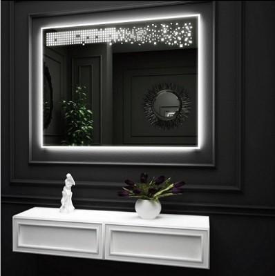 poza Oglinda cu iluminare LED interioara si iluminare LED pe perete O'VIRRO seria HARMONY