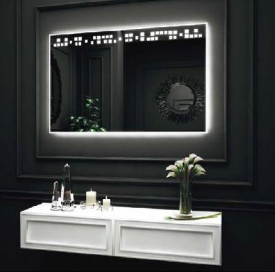 poza Oglinda cu iluminare LED interioara sus si exterioara pe perimetru O'VIRRO seria JANINE