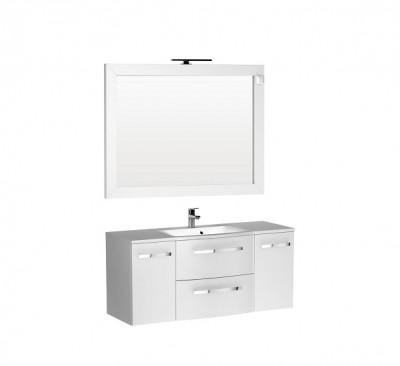 poza Set mobilier de baie cu lavoar si oglinda ORISTO seria WAVE
