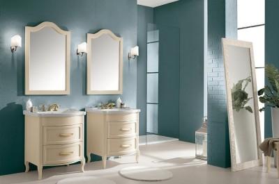 poza Set mobilier de baie cu lavoar si oglinda EBAN seria RACHELE 75 #158 SET