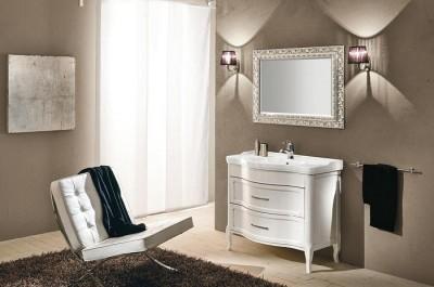 poza Set mobilier de baie cu lavoar si oglinda EBAN seria RACHELE 95 #161 SET