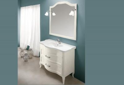 poza Set mobilier de baie cu lavoar si oglinda EBAN seria RACHELE 108 #159 SET