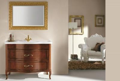 poza Set mobilier de baie cu lavoar si oglinda EBAN seria RACHELE 108 #160 SET
