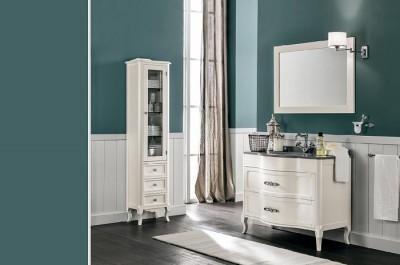 poza Set mobilier de baie cu blat lavoar si oglinda EBAN seria RACHELE 108 #153 SET