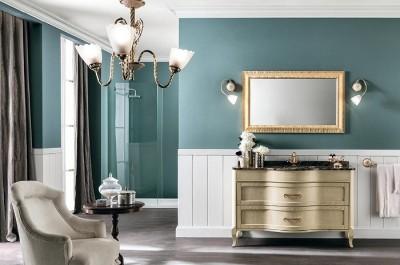 poza Set mobilier de baie cu blat lavoar si oglinda EBAN seria RACHELE 130 #156 SET