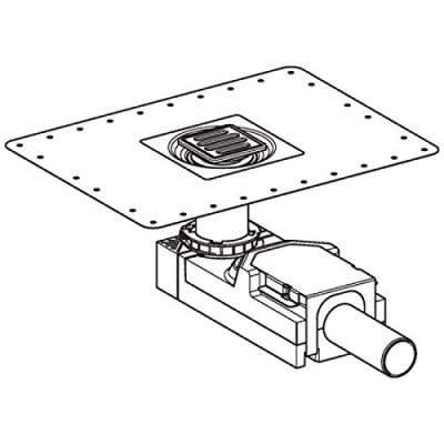 Sifon de pardoseala H 90 mm, Geberit CleanLine 154.050.00.1 teh
