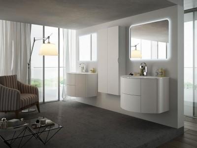 Set mobilier de baie Baden Haus Eden 90 alb frasino