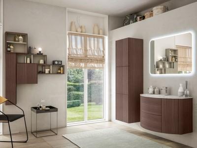 Set mobilier de baie Baden Haus Eden 90 stejar inchis