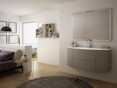 Set mobilier de baie Baden Haus Eden 120 gri talpa