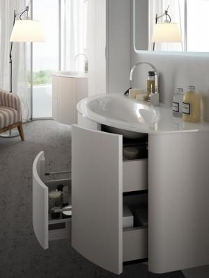 Set mobilier de baie Baden Haus Eden 90 alb frasino - detaliu