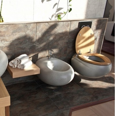 poza capac vas wc villeroy boch seria pure stone gri 98m16100. Black Bedroom Furniture Sets. Home Design Ideas