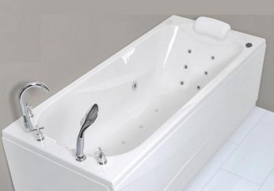 poza Set cada de baie dreptunghiulara cu hidromasaj WELLIS seria LIZZI E-PLUS cu baterie RETRO