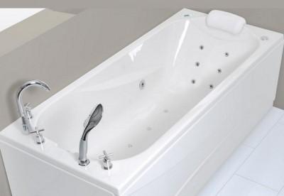 poza Set cada de baie dreptunghiulara cu hidromasaj WELLIS seria LIZZI E-MAX cu baterie RETRO