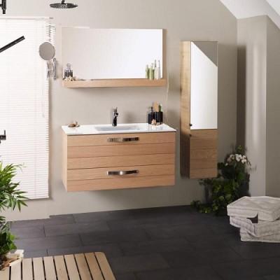 poza Set mobilier de baie cu lavoar si oglinda PARISOT seria OSLO 100 CERAMICA