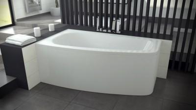poza Panou pentru cada de baie asimetrica BESCO seria LUNA