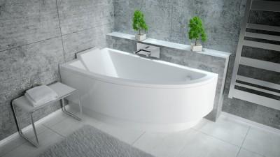 poza Panou pentru cada de baie asimetrica BESCO seria PRAKTIKA