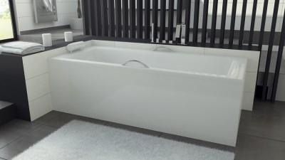 poza Panou pentru cada de baie dreptunghiulara BESCO seria TALIA